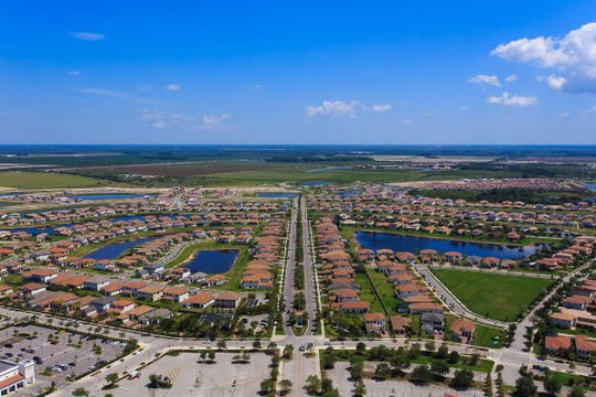 Aerial view of Maple Ridge in Ave Maria.