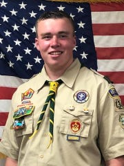 Boy Scout Ryan Hanley of Dumont, 15