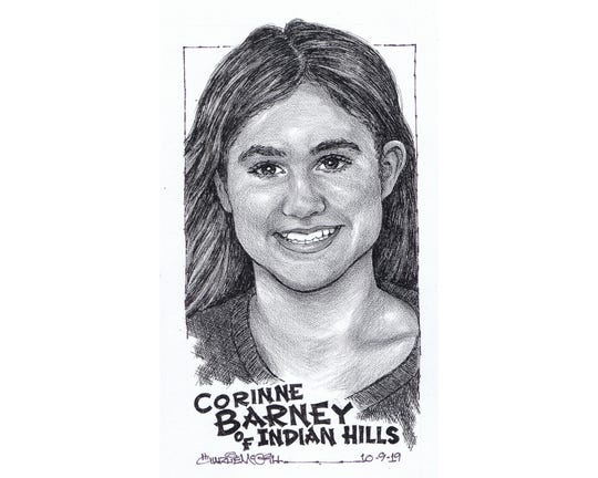 Corinne Barney, Indian Hills cross-country
