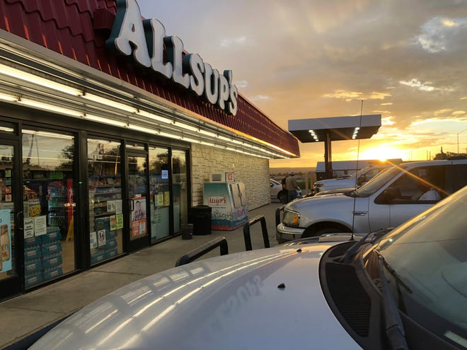 An Allsup's convenience store is pictured in Carlsbad.
