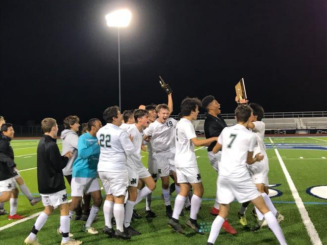 The Novi boys soccer team secured the KLAA championship against Livonia Stevenson on Oct. 7