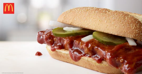 The McDonald's McRib returns to Arizona after five years of absence.