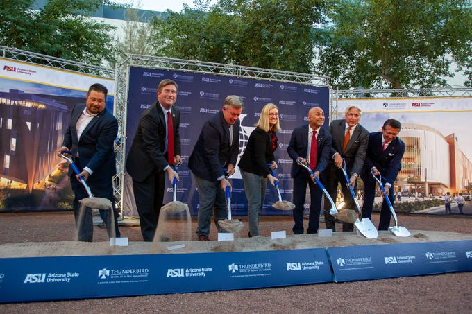ASU broke ground on the new downtown Phoenix building for the Thunderbird School of Global Management on Oct. 7, 2019.