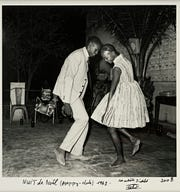 "Malick Sidibé (Malian, 1936-2016), ""Nuit de Noel (Happy Club) 1963."" Gelatin silver print. Purchase, Advisory Council for Photography, 2011.21.3. Estate of Malick Sidibé. Courtesy of the artist's estate/ Jack Shainman Gallery, New York."