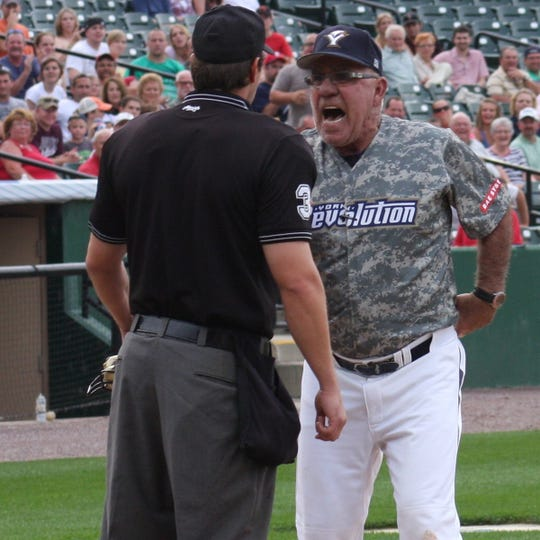 Former York Revolution manager Andy Etchebarren was well known for his confrontations with Atlantic League umpires.