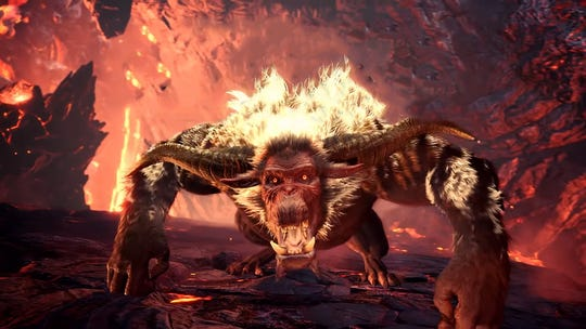 "Rajang taps into its inner Saiyan and turns golden when enraged in ""Monster Hunter World: Iceborne."""