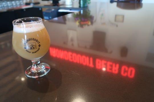 A pint of the Shakesbeare milkshake IPA at Irondequoit Beer Co.