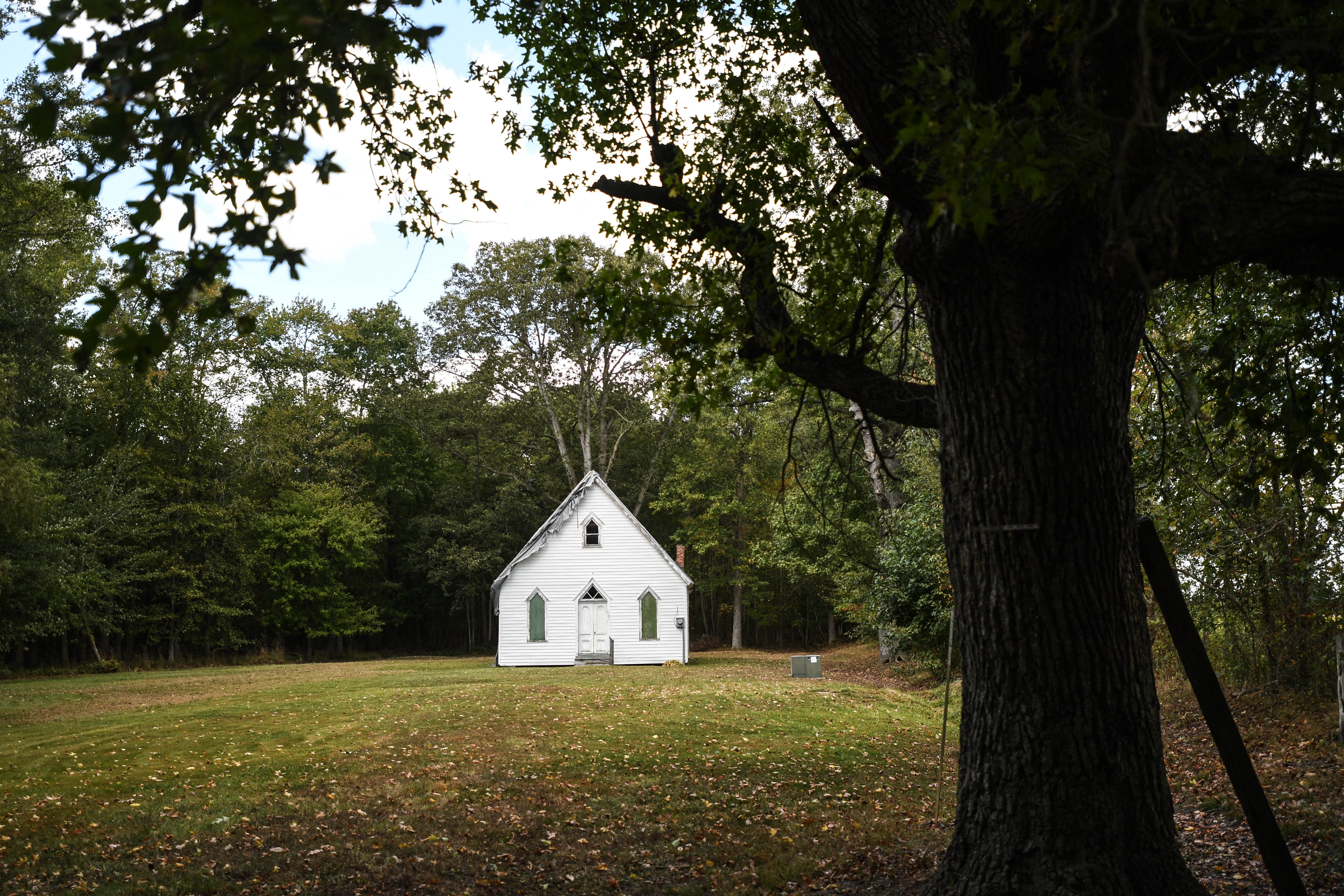 Harriet Tubman relied on her faith in God during her escape. Alex and Lisa Green, owners of Harriet Tubman Tours, believe this is where the Underground Railroad conductor once attended church near Cambridge, Maryland. The building is long abandoned.