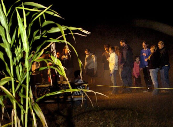 People wait to enter a haunted corn maze in this USA Today file photo.