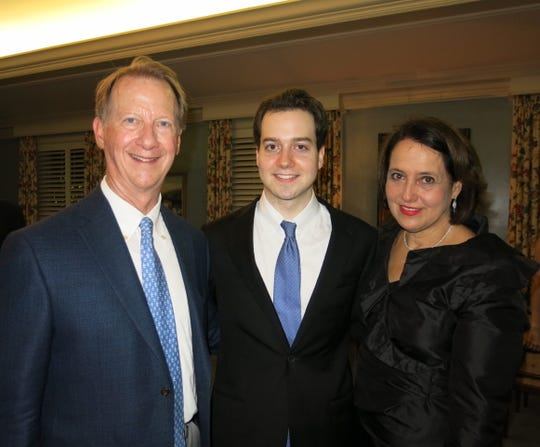 Ed and Laura Crawford with their son Cellist John-Henry Crawford  at Meet & Greet Reception.