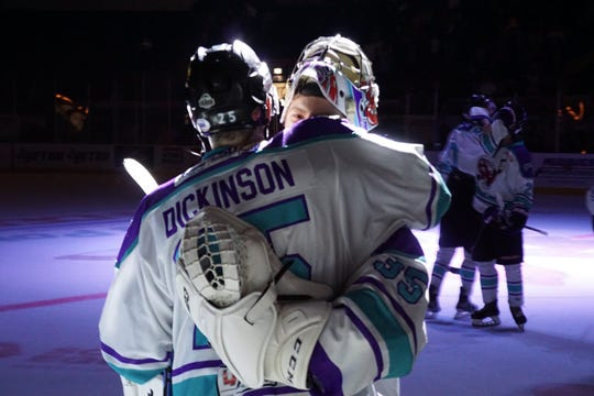 Shreveport Mudbugs forward Ryan Dickinson will serve a two-game suspension beginning Friday at Topeka.