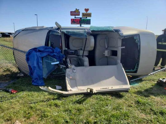A 16-year-old girl who stole a car and led deputies on a chase was injured when she crashed the vehicle in Pennington County.