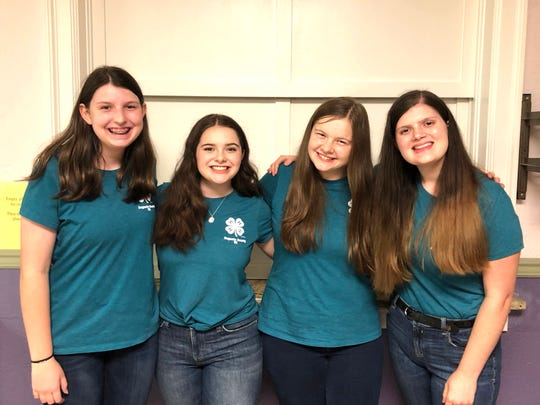 Jessica Layman, Ashlyn Miller, Moriah McCaskill and Kylee Miller formed the Spice Girls, a local 4-H cooking team that recently won a national competition.
