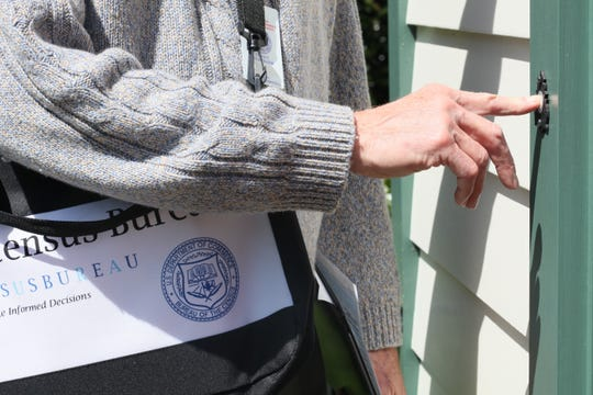 Census workers are canvassing neighborhoods in preparation for the 2020 census.