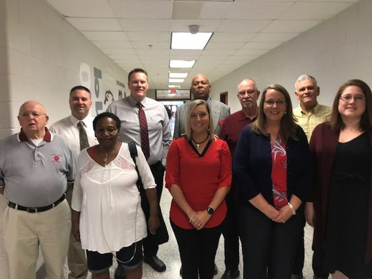 """Stuarts Draft High School inducted 11 new members into its athletic hall of fame on Saturday. In the Class of 2019 are John Forbes, Shawn Baska, Pamela Wells Goins, Tommy Taylor, Sarah Wade, Jeffrie Williams, Dennis Hatter, Julie King Maxwell, Orvin """"Tinker"""" Kiser and Jessica Bridge Chittams. Unable to attend was Richard Miller"""
