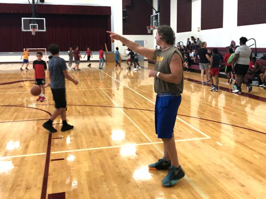Ryan Blosser participated in his first open gym at Shelburne Middle School October 2. Blosser will be coaching the boys basketball team at the school this winter.