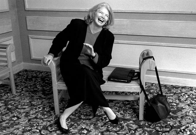 """Journalist Molly Ivins in """"Raise Hell: The Life and Times of Molly Ivins,"""" a Magnolia Pictures release."""