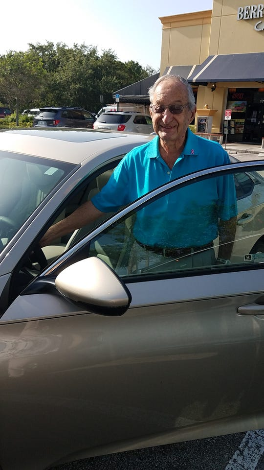"""Richard """"Dick"""" Steinberg is a driver for the American Cancer Society's Road To Recovery program. He is one of only eightdrivers in St. Lucie County, where last year the number of rides more than doubled from 208 to over 500."""