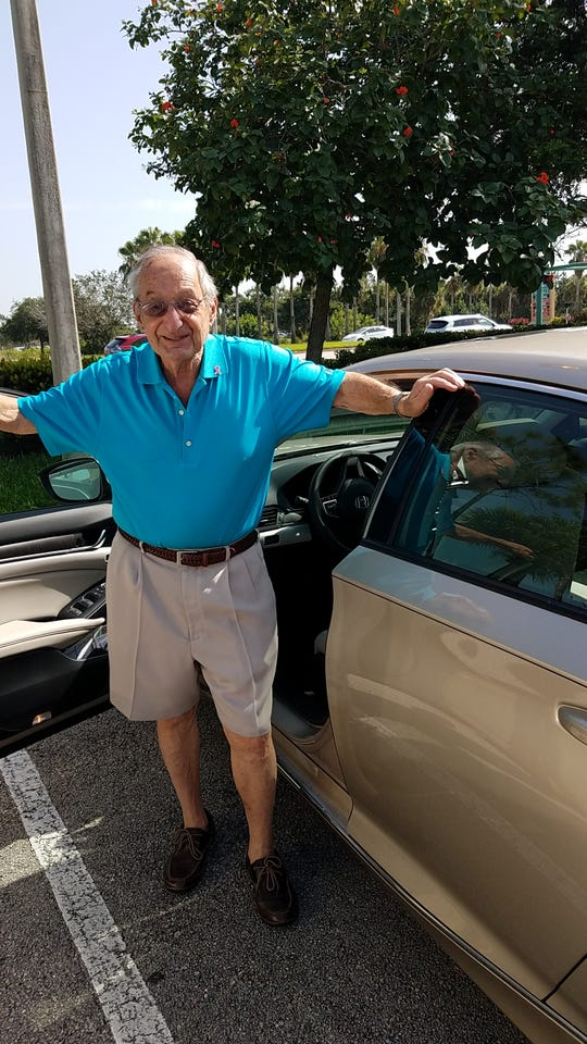 """Richard """"Dick"""" Steinberg is a hero to many Treasure Coast cancer patients. He is a driver for the American Cancer Society's Road To Recovery program."""