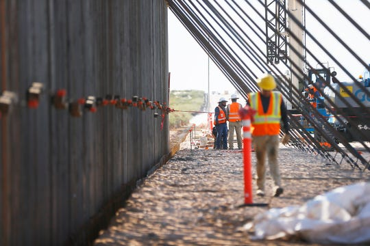Construction site of a new border fence being built in rural Southern New Mexico between Santa Teresa and Columbus, N.M., South of Highway 9 Tuesday, Oct. 8, in N.M.