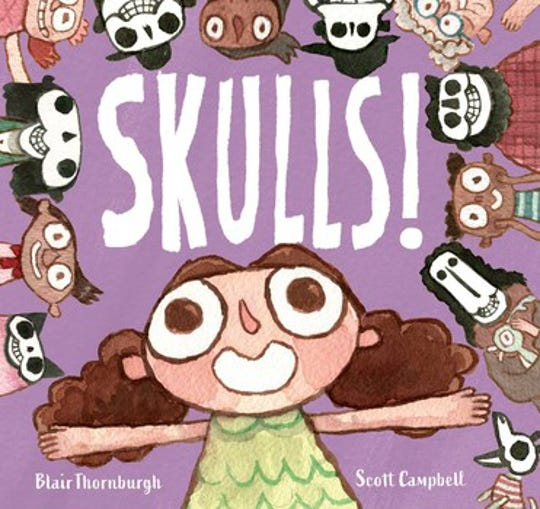 SKULLS! by Blair Thornburgh, illustrated by Scott Campbell