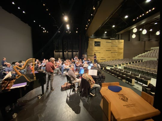 The Channel Islands Chamber Orchestra rehearses at the Rancho Campana Performing Arts Center in Camarillo. CHICO will open its 17th season Saturday and Sunday.