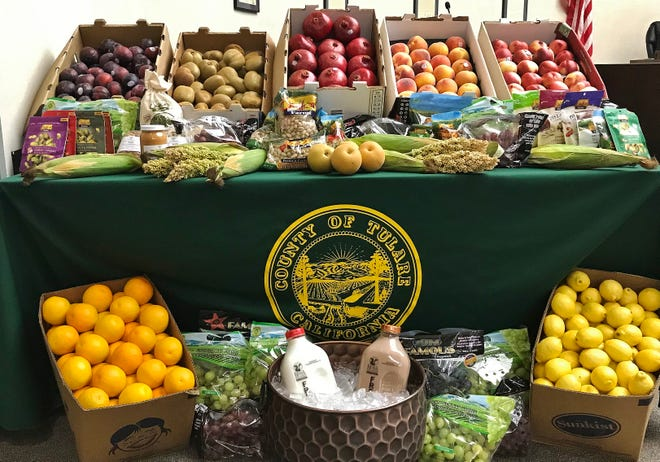 A lush bounty of Tulare County's best produce brightened up the Tulare County supervisors' boardroom on Tuesday, Oct. 8. The display celebrated the reveal of the 2018 Tulare County Crop and Livestock Report, which recorded $7.2 billion in value.