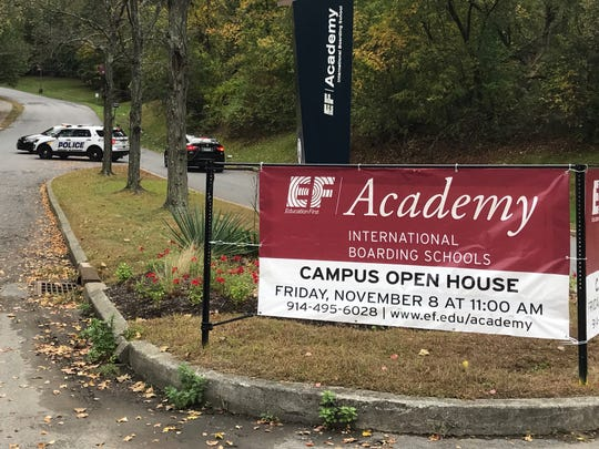 The entrance to EF Academy in Thornwood. A threat involving the school prompted lockouts at schools in Mount Pleasant, Pleasantville and Valhalla, Tuesday, Oct. 8, 2019.