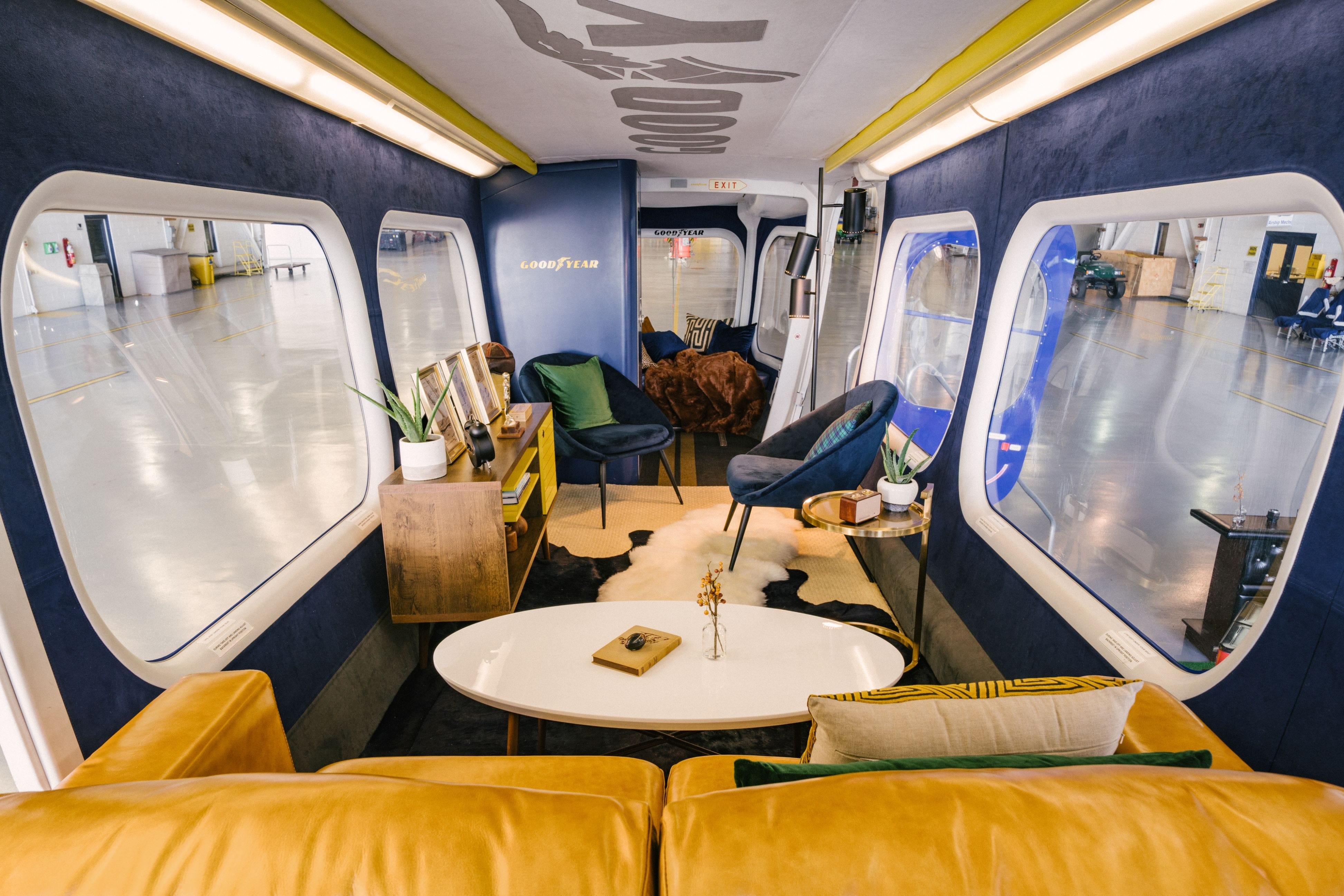 Want to see the inside of the Goodyear Blimp? Now you can even sleep in it