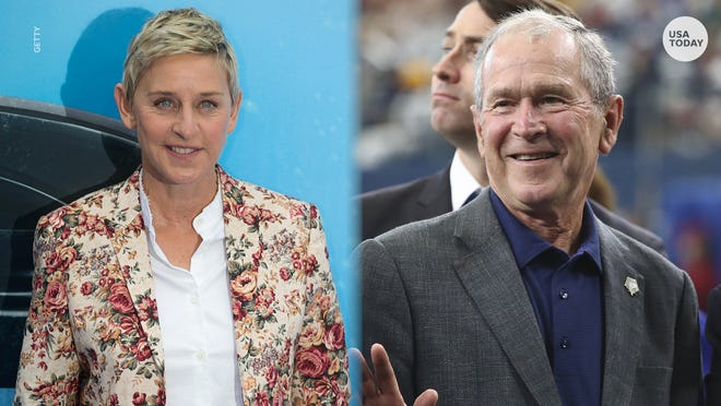 Ellen DeGeneres stands up to backlash after sitting next to 'friend' George W. Bush