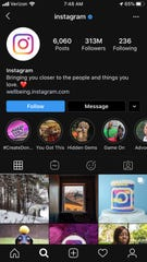 A screenshot of the Instagram app in dark mode.