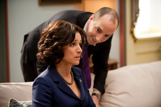 VEEP episode 11 (season 2, episode 3): Julia Louis-Dreyfus, Tony Hale. photo: Lacey Terrell [Via MerlinFTP Drop]