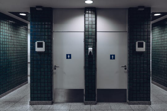 Go to the restroom right before you board to avoid unnecessary visits to coffin-sized airplane bathrooms.