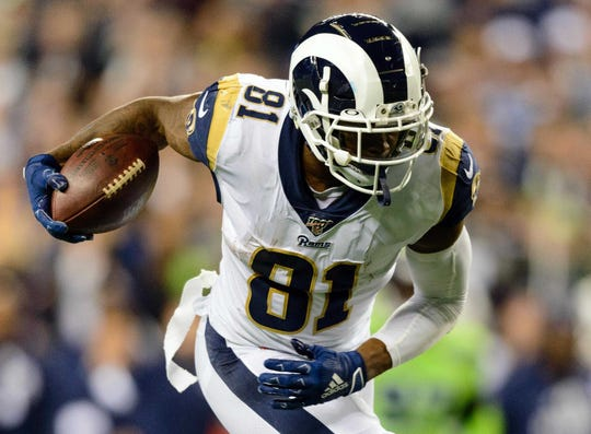 Rams tight end Gerald Everett had a career-high 136 receiving yards in Week 5 at Seattle.