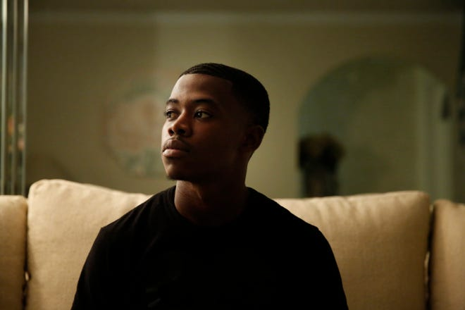 Deandre Somerville, 21, of West Palm Beach poses for a portrait on Thursday, Oct. 3, 2019, in West Palm Beach, Fla. A judge sentenced Somerville to 10 days in prison, one year probation and 150 hours of community service for missing a jury service.