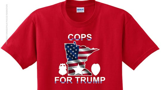 Police supporters of Trump plan 'sea of red' at Minneapolis rally amid outrage over uniform ban