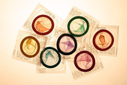 Latex condoms for story on new options in male contraception.  (Photo by Bryan Chan/Los Angeles Times via Getty Images)