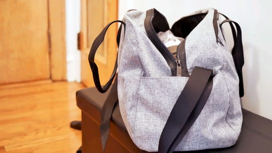 An extra foldable duffle bag can transport your shopping haul or serve as a laundry hamper for your cabin.