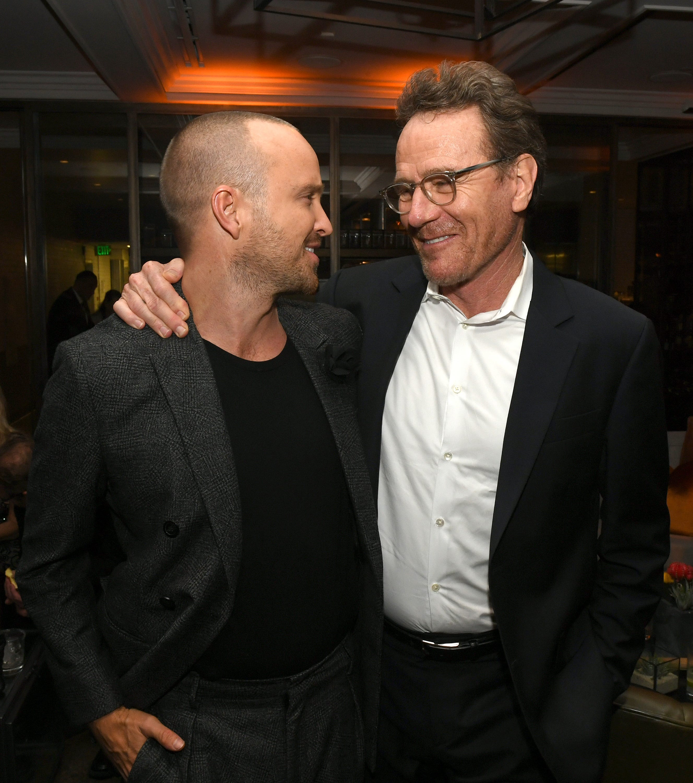 Aaron Paul, Bryan Cranston reunite at  Breaking Bad  movie premiere