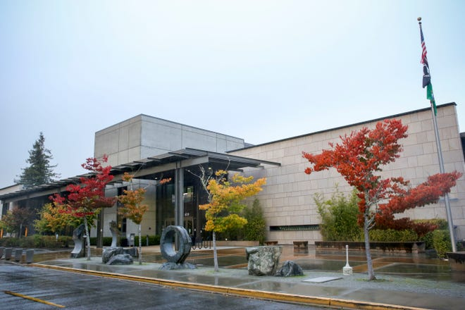 The county administration building in Port Orchard. Voters in South Kitsap will see six candidates in the primary for Kitsap County Commissioner District 2.