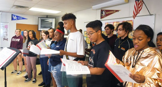 Practicing for Carnegie Hall.The Cocoa High School Chorus, under the direction of Misty Martinez, has raised $85,000 for their trip to New York City to perform at the Carnegie Hall. Cocoa is the only Florida high school invited to perform at National Fall Sing-Remembering 9/11 Commemoration.