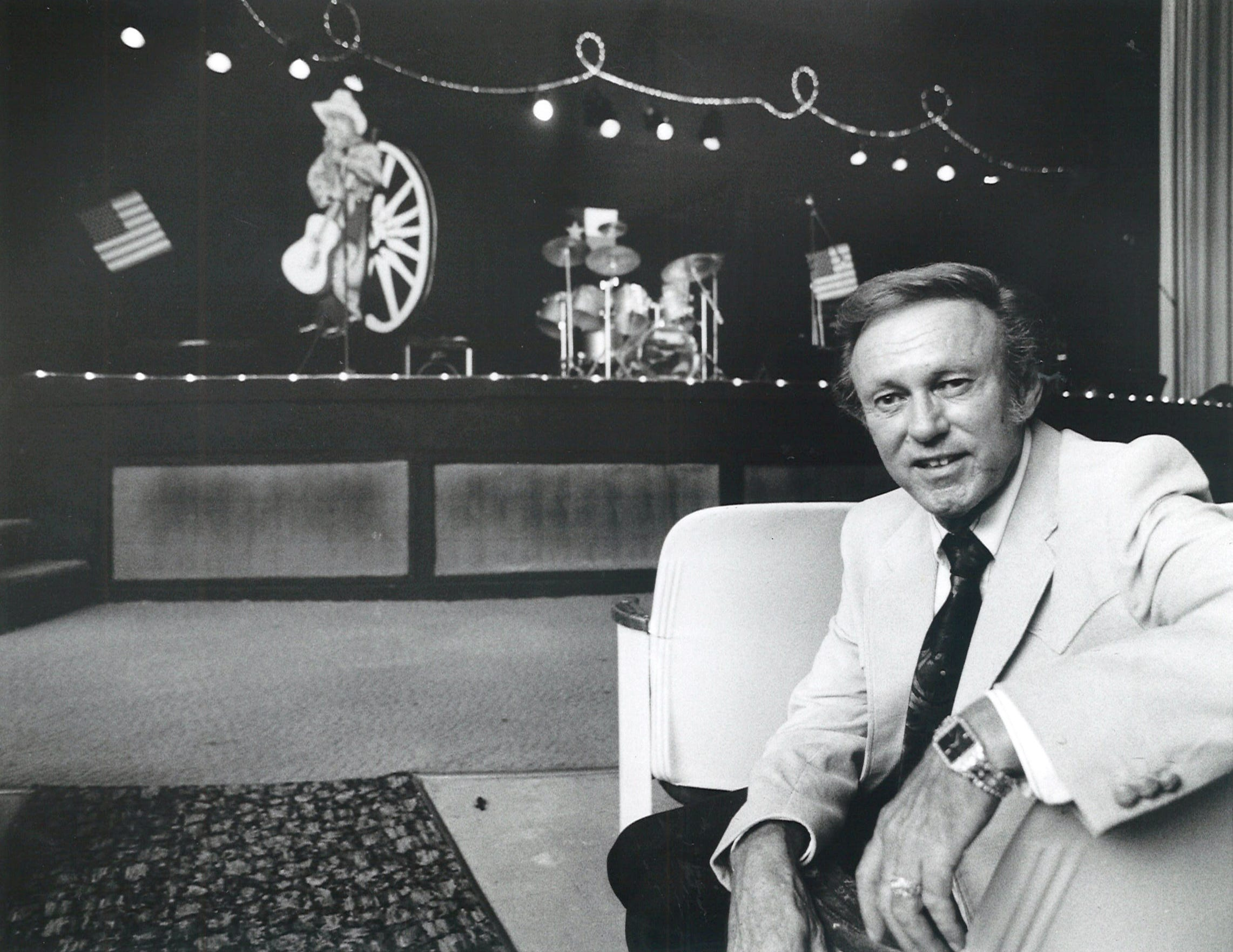 Dexter Wright, owner of Centre Theatre in downtown Corpus Christi, sits in a second row seat of thi sheathre with the stage in the background on Aug. 20, 1992. His family-oriented country and western music theater show held a grand opening the following night. The theater was briefly rebranded as D.W.'s Country Show Place.