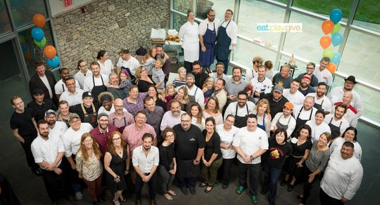 The chefs who participated in the SIDS brunch in 2018
