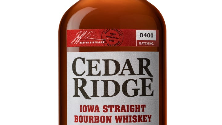 Cedar Ridge Distillery's best-selling Iowa Bourbon gets a new look, higher proof
