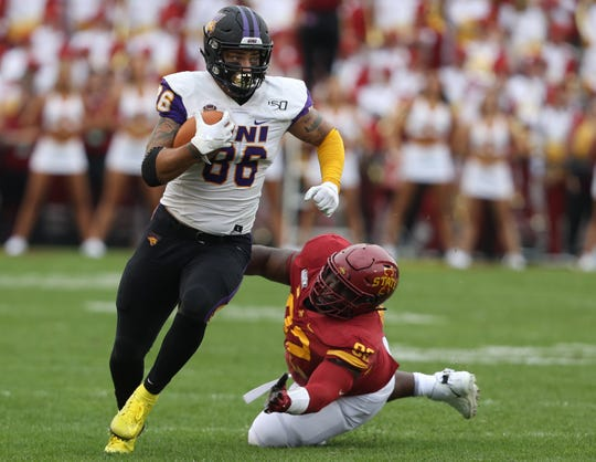 All-MVFC tight end Briley Moore will take a medical redshirt after suffering a season-ending shoulder injury Week 1 at Iowa State.