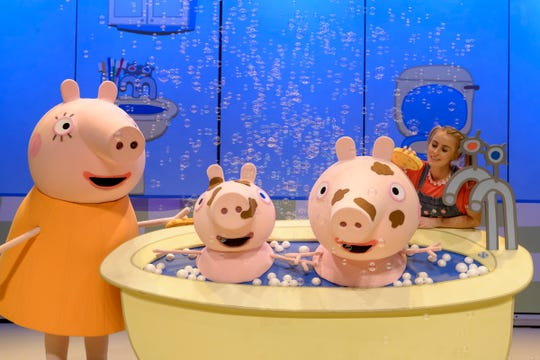 """""""Peppa Pig Live!"""" is based on the British TV series for preschoolers that debuted in 2004."""
