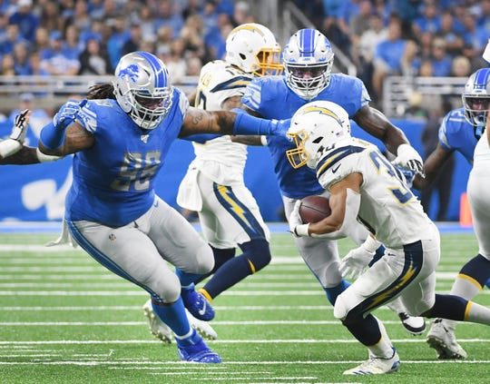 Lions defensive tackle Damon Harrison (98) missed the portion of Wednesday's practice open to the media.
