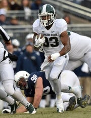 Jeremy Langford rushed for 2,944 yards in his final two seasons at Michigan State, after playing several positions for the Spartans during his career.