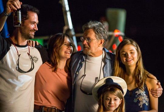 "Manuel Garcia-Rulfo, Emily Mortimer, Gary Oldman, Chloe Perrin and Stefanie Scott in ""Mary."""