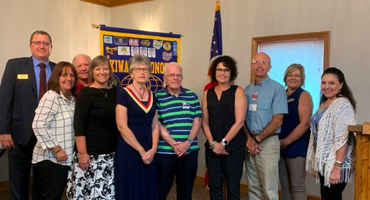 Pictured from the Port Clinton Kiwanis Board are, front row from left to right,  Diane Belden, Michele Mueller, Julie Rosiar, John Hull, Renee Claycomb, Paul Shaw, Kelly Reis, and Lisa Smith. In back are Mike Zipfel and Carl Koebel.